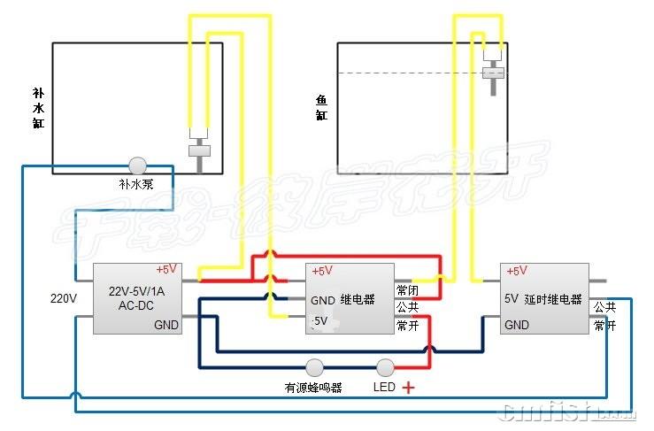220延时器接线图图解