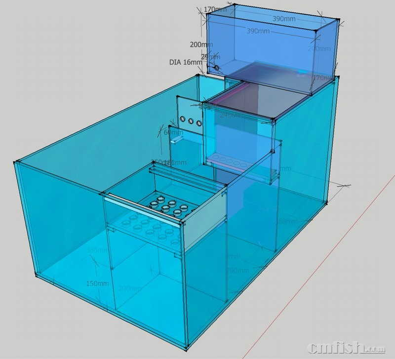 底缸设计图,实际要比图纸更完美,下水盒防止盐雾影响底柜寿命