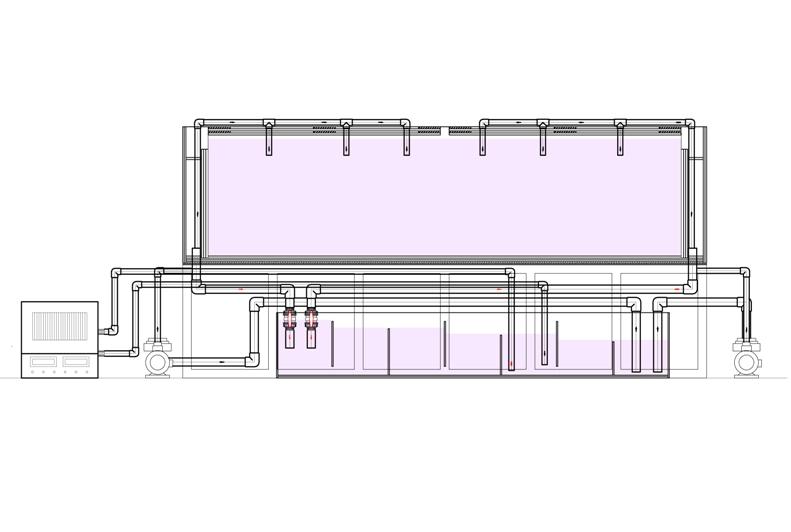 大形鱼缸底滤鱼缸设计图分享展示