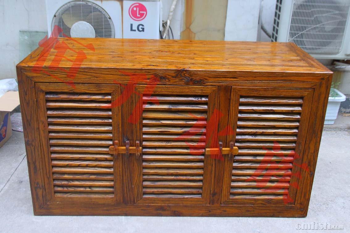 超白鱼缸 实木柜子