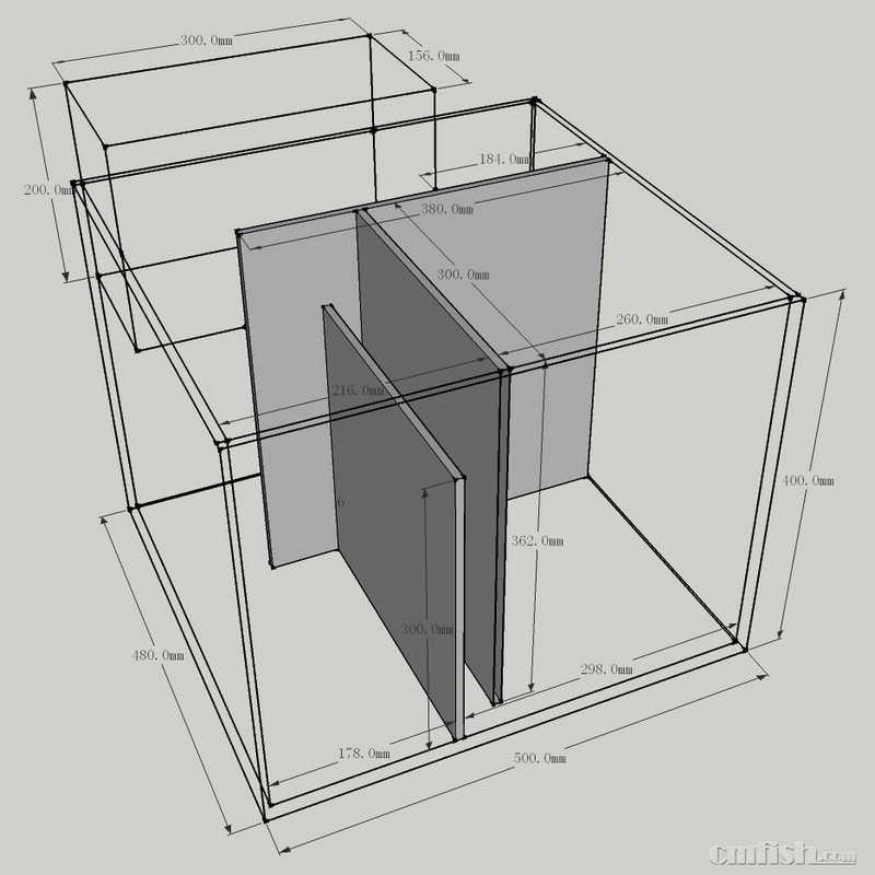 求一个60方缸的底缸设计图 - 海缸综合讨论区 - cmf海